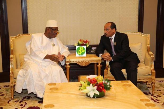 ibk-president-malien-Mohamed-Ould-Abdel-president-mauritanien